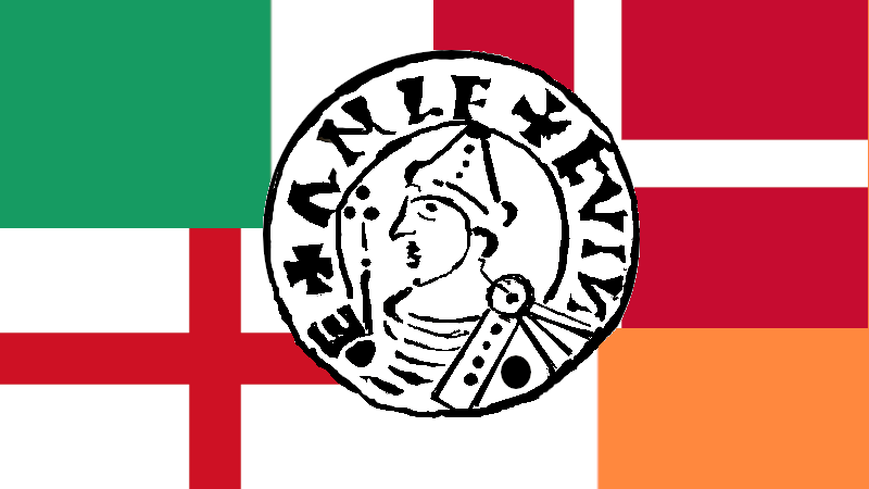 Vikingmynter kan komme fra hele Nord-Europa. Denne ANLF-mynten var spesielt vrien.